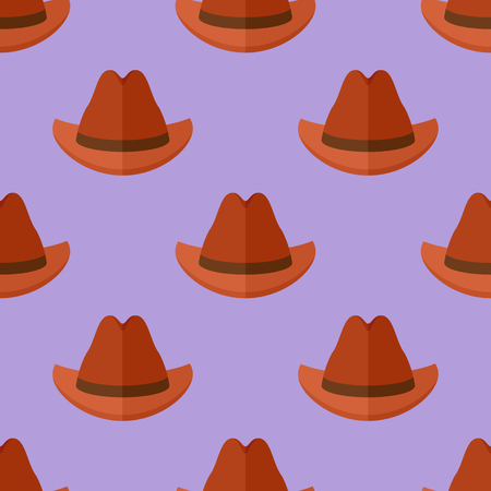 Seamless pattern with cowboy hats Illustration