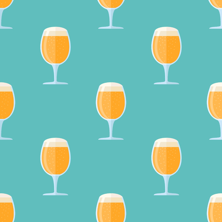 Seamless pattern with beer goblets