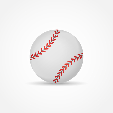 Baseball isolated on white background. Ball vector illustration. Ilustrace