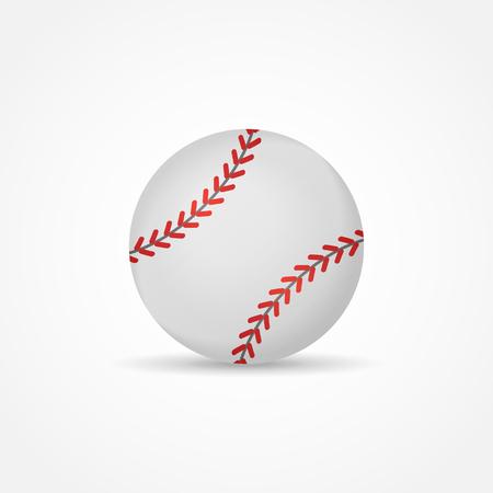 Baseball isolated on white background. Ball vector illustration. Illustration