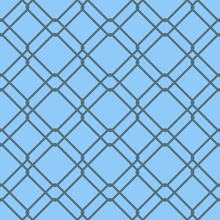 Geometric abstract pattern on blue background. Vector seamless texture. Illustration