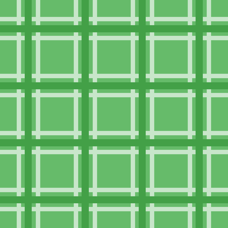 Green plaid seamless pattern on green background.Geometric vector texture.