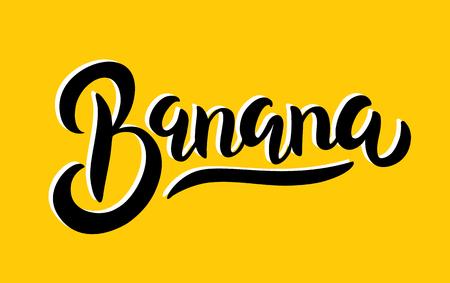 vintage banana poster design with vector banana character royalty