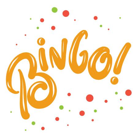 Bingo Vector lettering on background. Illustration