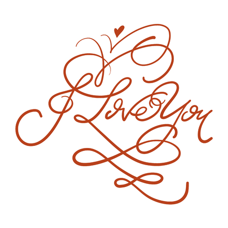 Hand drawn lettering set with romantic phrases about love. Vector inscriptions collection on background. Illustration