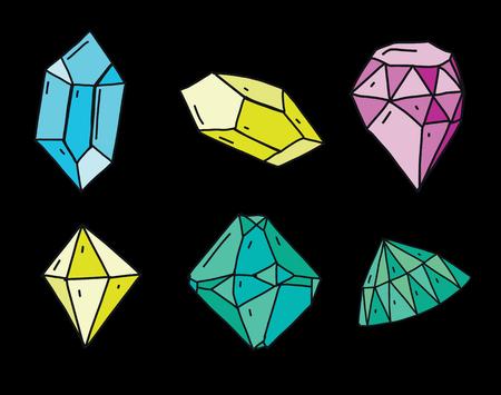 Diamond vector icon hand drawn illustration isolated on background.