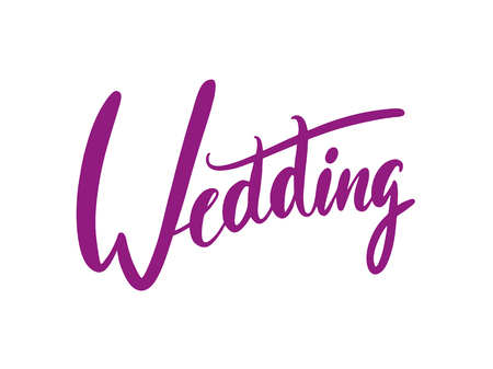 Wedding calligraphy vector lettering phrases. Illustration