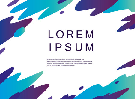 Abstract modern graphic elements. Vector set. Artistic covers design. Creative colors backgrounds. Trendy futuristic design. Applicable for Banners, Placards, Posters, Flyers. Illusztráció