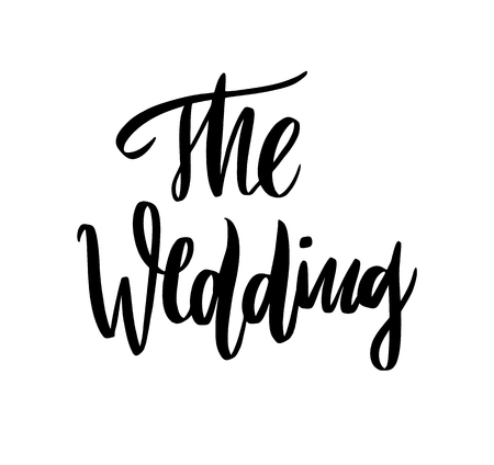 Wedding calligraphy vector lettering phrases. Isolated on white background.