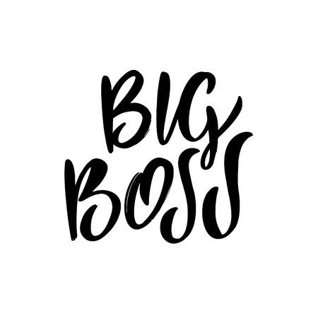 Big Boss hand drawn vector lettering. Logo sketch isolated on white background. Ilustrace