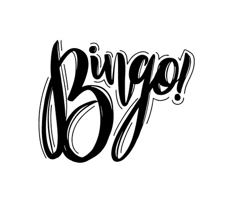 Bingo phrase hand drawn vector lettering. Vector illustration isolated.
