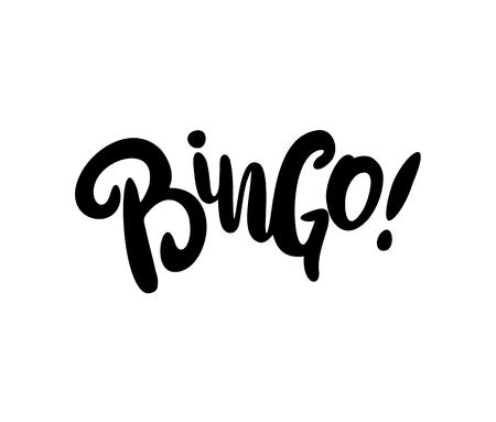Bingo phrase hand drawn vector lettering. Vector illustration isolated.