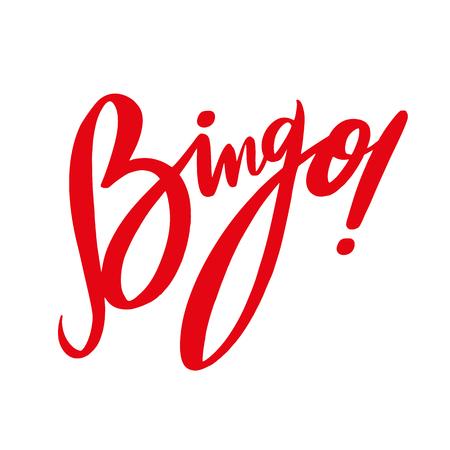 Bingo phrase hand drawn vector lettering. Vector illustration isolated on white background. EPS 8