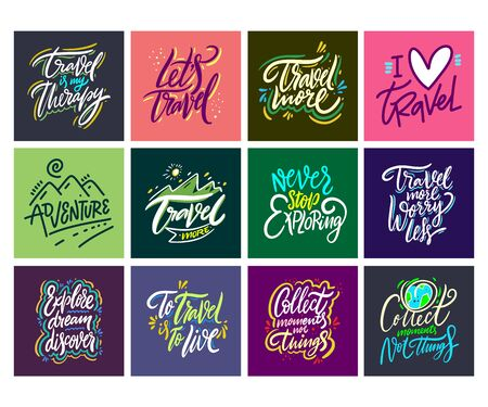 Travel and Adventure lettering set 13.