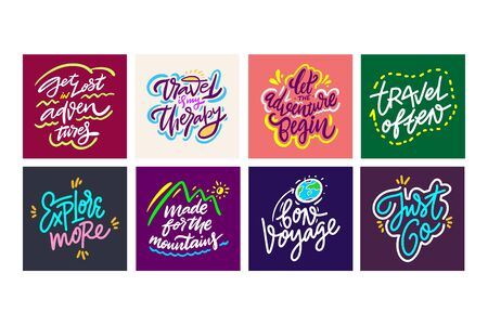 Travel and Adventure lettering set 14.