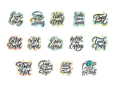 Travel and Adventure lettering set 02.