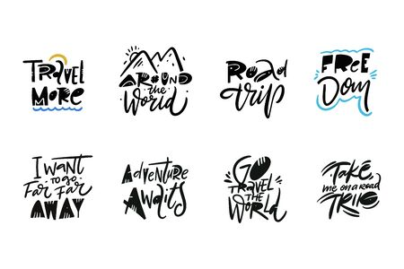 Travel and Adventure lettering set 03.