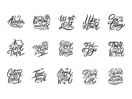 Travel and Adventure lettering set 04.