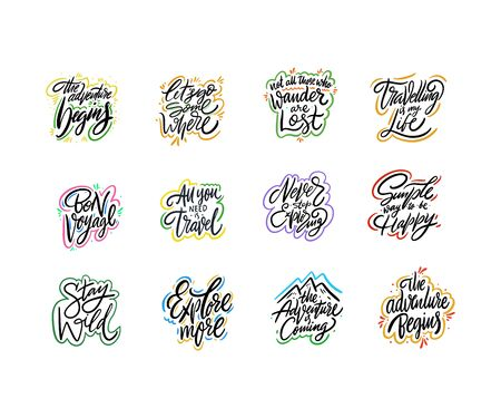Travel and Adventure lettering set 05.