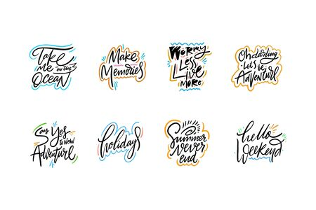 Travel and Adventure lettering set 06.