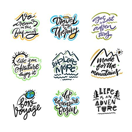 Travel and Adventure lettering set 07.