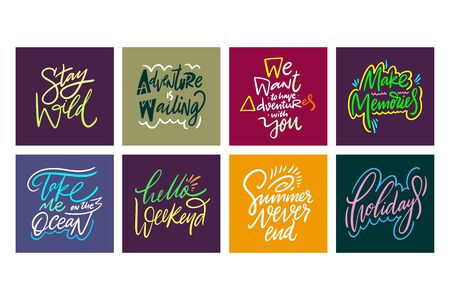 Travel and Adventure lettering set 08.