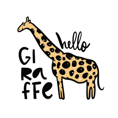 Cute Giraffe in cartoon style. 일러스트