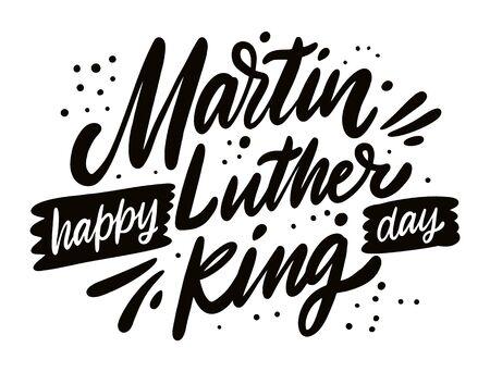 Alles Gute zum Martin-Luther-King-Tag. Urlaub-Schriftzug. Moderne Kalligraphie. Vektor-Illustration.