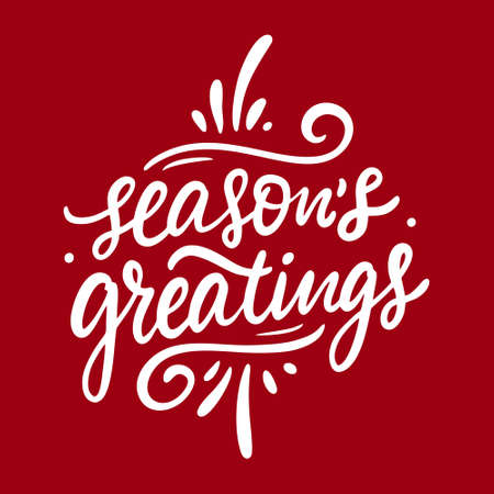 Seasons greatings. Hand drawn lettering phrase. Modern calligraphy. Archivio Fotografico - 158457463