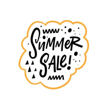 Summer Sale hand drawn colorful lettering phrase. Summer season motivation text. Stock Illustratie