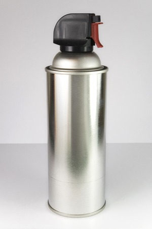 Silver Spray Bottle for cleaning Stock Photo - 1685240
