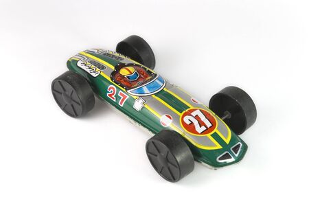 green tin race car