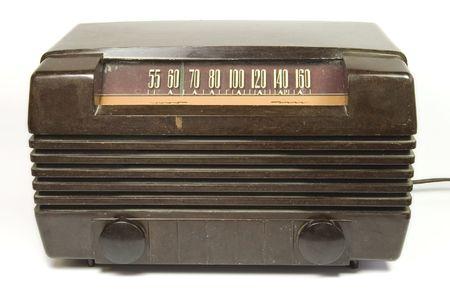 old time: old time barkelite radio on isolated background