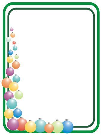 인사말 카드에 대 한 색 크리스마스 구 프레임