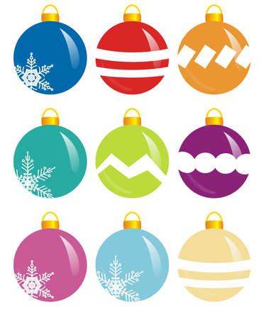 크리스마스에 대 한 9 개의 화려한 디자인 분야의 illlustration