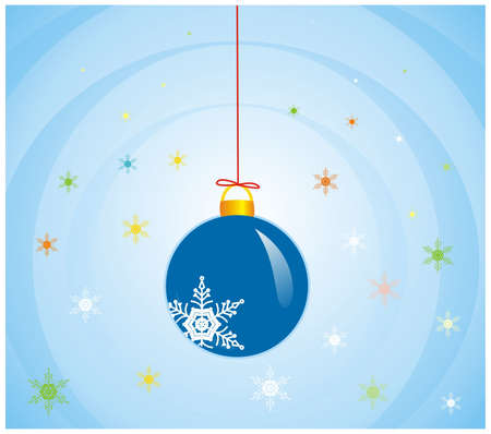 solemn: illustration of one colorful design sphere  for xmas Stock Photo