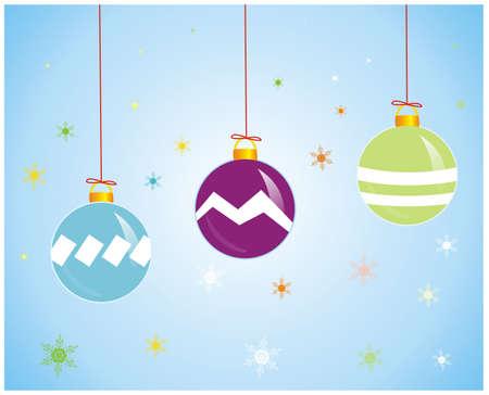 크리스마스에 대 한 세 가지 화려한 디자인 영역의 그림
