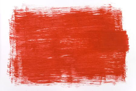 red draw texture painting on white canvas Stock Photo - 2142726