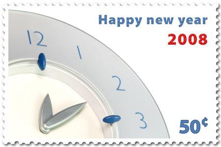 happy new year 2008 stamp of 50¢ photo