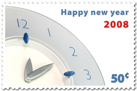 happy new year 2008 stamp of 50� photo