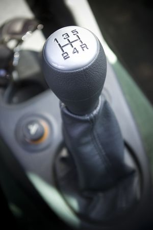 matte: silver car stick with 5 speeds,  truck