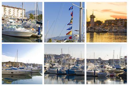 marina collage of five puerto vallarta images Stock Photo - 2428875