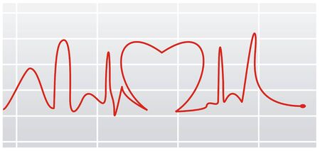 heat beat pulse illustration with   lines illustration