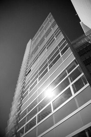 bn: B  n negocio de la construcci�n de un centro financiero  Foto de archivo