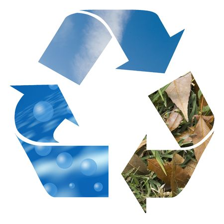 air, wind and earth recycle sign for earth Stock Photo - 2781755