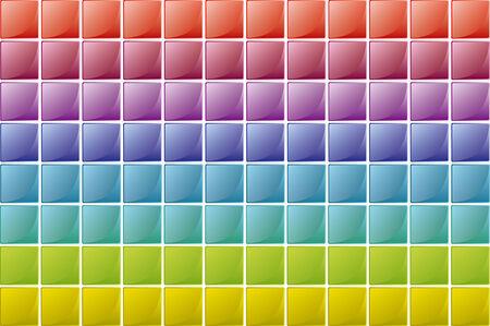 color squares texture in degradade order Vector