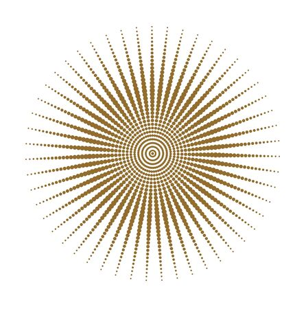 distort: brown sun dots texture, grounge style Illustration