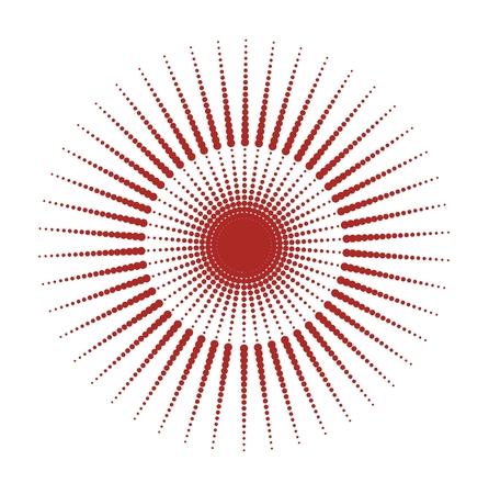 zondag rode stippen textuur, grounge stijl Stock Illustratie