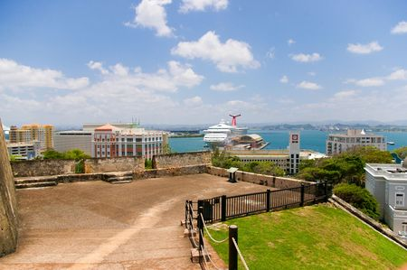 juan: view of old san juan, in  puerto rico