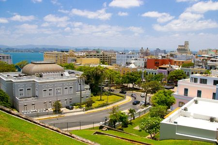 rico: view of old san juan, in  puerto rico